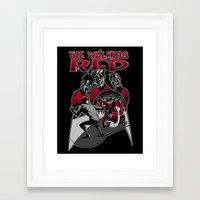 The Walking Red Framed Art Print