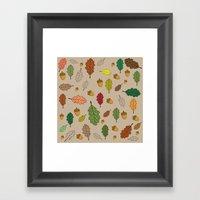Oak pattern Framed Art Print