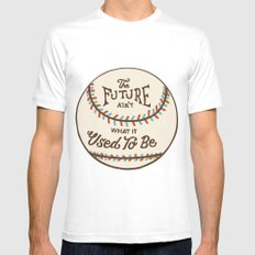 The Future Ain't What It Used To Be White Mens Fitted Tee SMALL