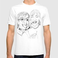 Yearbook Faces Mens Fitted Tee White SMALL