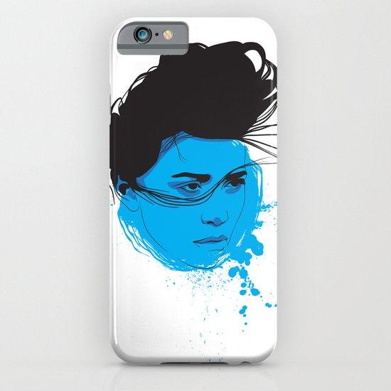 Black, blue & white I iPhone & iPod Case
