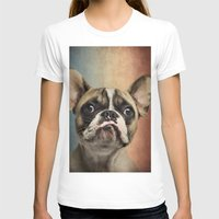 french T-shirts featuring French bulldog, french flag ! by Life on White Creative