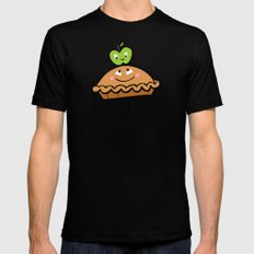Apple Pie Black SMALL Mens Fitted Tee
