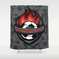 Team Fireball Shower Curtain