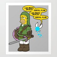 The Simpsons: Legend Of … Art Print