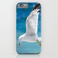 iPhone & iPod Case featuring Gull with Fish by Elaine C Manley
