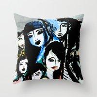 The humorous death  Throw Pillow