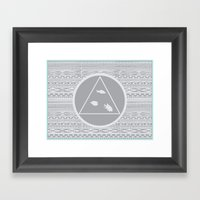 Patterns of Thought Framed Art Print