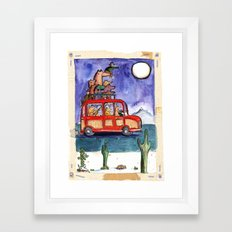 Dogs on Vacation: Framed Art Print