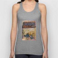 The Rock - Rainbow Room - New York City  Original Watercolor Print Unisex Tank Top