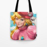 Peachy Princess Tote Bag