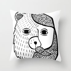 Werebear Throw Pillow