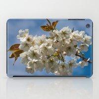 White Cherry Blossom iPad Case