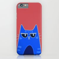 iPhone & iPod Case featuring Serious Cat by Frostbeard Studio