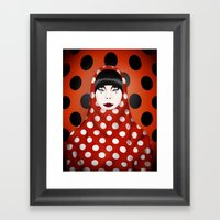 The Many Faces Of Peggy … Framed Art Print