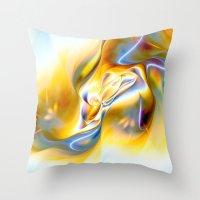 Fluid Gold Throw Pillow