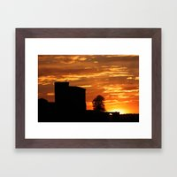 Castle Sunset  - JUSTART © Framed Art Print