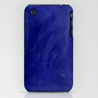 iPhone 3Gs & iPhone 3G Cases featuring Inky Mess Blue Artistic Spill and Splash by Sweet Harmony Photography