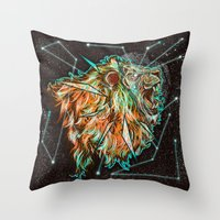 Space Lion  Throw Pillow