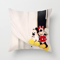 Mickey and Minnie Mouse Throw Pillow