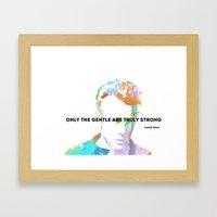 James Dean Quote Framed Art Print