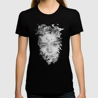 THE BIRDS Womens Fitted Tee Black SMALL