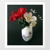 Chinese Vase With Flower… Art Print