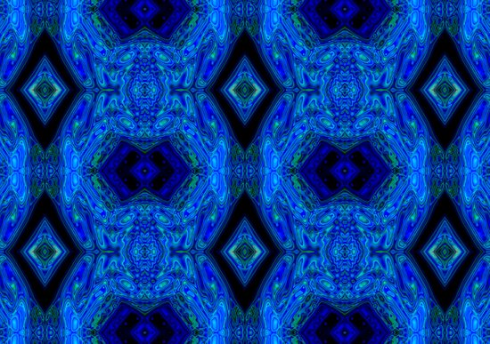 Blue Interface Art Print