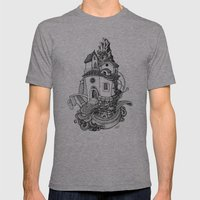 Crystal Mountain Mens Fitted Tee Athletic Grey SMALL