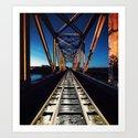 Railroad in Twilight Art Print