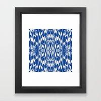 Ikat: Nautical Blue  Framed Art Print