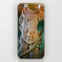 The Pondering Cherub iPhone & iPod Skin