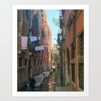 Venetian Waterway 2 Art Print