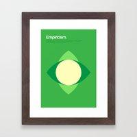 Empiricism Framed Art Print