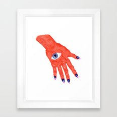 All-Seeing Nails Framed Art Print