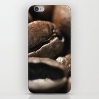 Coffee beans macro photo - fine art - still life - interior decoration, for bar & restaurant,  iPhone & iPod Skin