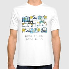 Pack It Up Pack It In SMALL Mens Fitted Tee White