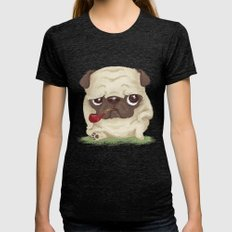 Pug Womens Fitted Tee Tri-Black SMALL