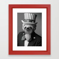 Life as an American Sloth Framed Art Print