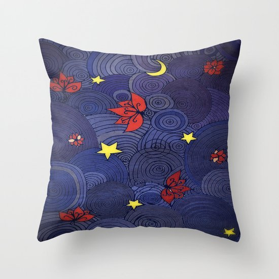 Lotus Sky Throw Pillow