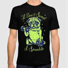 I Don't Sweat I Sparkle Mens Fitted Tee Black SMALL