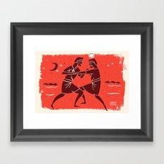 Jacob Wrestles with the Lord (by Luke Bott) Framed Art Print