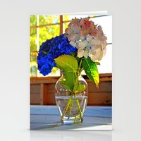 Light and flowers Stationery Cards