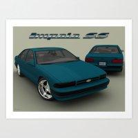 90's Chevrolet Impala 3ds Art Print