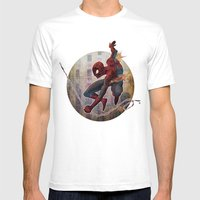 The Amazing Spider-man Mens Fitted Tee White SMALL