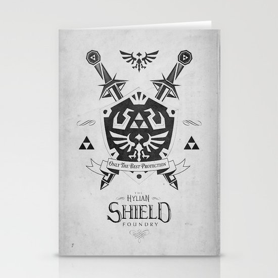 Legend of Zelda - The Hylian Shield Foundry Stationery Card