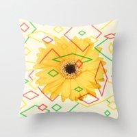 Flower Throw Pillow