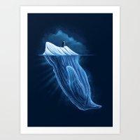 The Iceberg Penguin Art Print