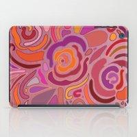 Rose fragments, pink, purple and orange iPad Case