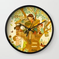 Our House In The Woods Wall Clock